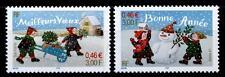 Weihnachten. Kinder bauen Schneemann. 2W. Frankreich 2001
