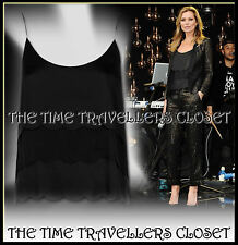 Kate Moss Topshop Black Scallop Trim Camisole Vest Top Blouse UK 8 BNWT RRP £45
