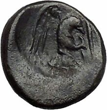 CHALKIS in EUBOEA 290BC Hera Eagle Serpent Authentic Ancient Greek Coin i48792