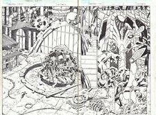 Deadpool #12 pgs. 2&3 Man-Thing, Frankenstein, Werewolf DPS art by Scott Koblish Comic Art