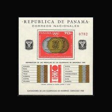PANAMA, Sc #487I, MNH, 1968, S/S, Olympics, List of Medals Distribution, 203