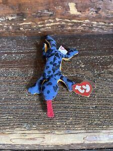 1993 Ty Lizz Teenie Beanie Baby Lizard Plush Toy
