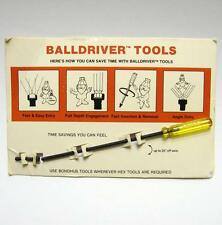 Rare Bondhus Balldriver Demonstration Hex Tool VTG Ball Driver Salesman Sample