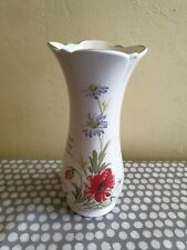 The Country Diary Collection Common Red Poppy Vase By Royal Winton