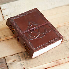 Fair Trade Handmade Celtic Trinity Knot Leather Journal Notebook 2nd Quality