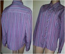 COLUMBIA Size XL Purple Striped Blouse