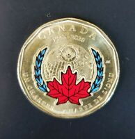 CANADA 2020 $1 One DOLLAR United Nation UN Charter Colourized Circulated