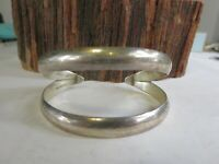 Vintage Large Sterling Silver Taxco Ribbed Cuff Bracelet TA-140 30 gr L1