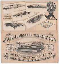 Rare Advertising Brochure- John Russell Cutlery Knife Co 1876 Folding Trade Card