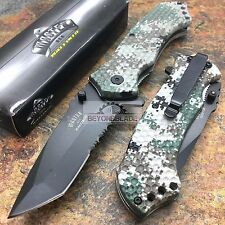 MASTER USA Military Camo Tactical Camping Hunting Rescue Pocket Knife MU-A009DG