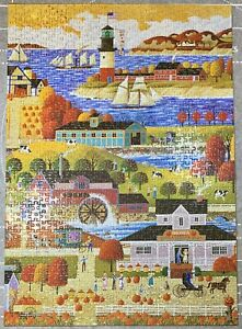 Hometown Collection 1,000 Piece Jigsaw Puzzle Preowned Challenging 100% Complete