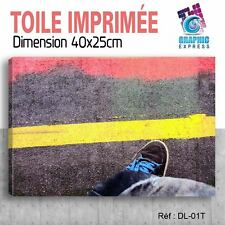 40x25cm - TOILE IMPRIMÉE - TABLEAU MODERNE DECORATION MURALE - DJ DIAZE - DL-01