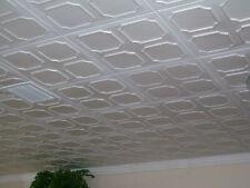 Tin Look Styrofoam Ceiling Tiles Easy Installation - R1W  White
