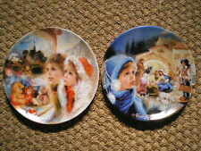 2 Darceau-Limoges Collectors Plates Noel 86 & 87 Guidou Numbered Free Shipping