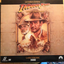 Indiana Jones and the Last Crusade Letterboxed Laserdisc Buy 6 free shipping