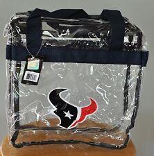 Houston Texans CLEAR Messenger Tote Bag Purse - Meets Stadium Security Reqs