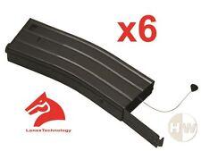 Airsoft m4 m16 scar metal black lonex flash magazine mag 360rds asg x6 pull cord