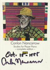 """Conlon NANCARROW (Composer): """"Studies for Player Piano"""" - Signed Color Postcard"""
