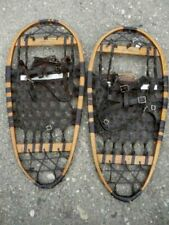 Vintage Wooden Snow Shoes with Ice Grips 13x28 Usable or Great Home Decor