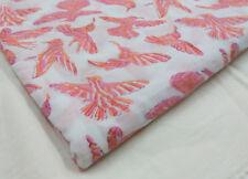 5 Yards Indian Hand Made Hand Block Print  Fabric Jaipur Bird Print NBHG07