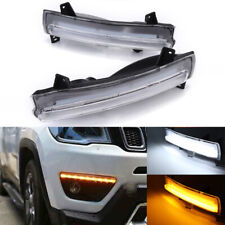 For Jeep Compass 2017 2018 LED Daytime Running Light DRL Fog Driving Signal Kit