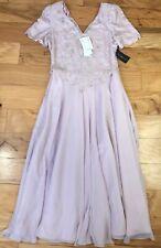 NEW L Purple Lavender Sequin Embellished Scala Long Prom Dress V-neck VTG 90s 80