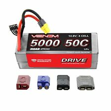 Venom 50C 4S 5000mAh 14.8V Hard Case RC LiPo Battery ROAR Approved with UNI Plug