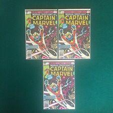 Marvel Bronze Age Spotlight On Captain Marvel Lot Of 3 (2)#1, Missing # Misprint