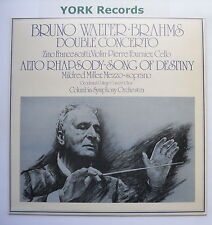 61428 - BRAHMS - Double Concerto BRUNO WALTER Columbia SO - Ex Con LP Record