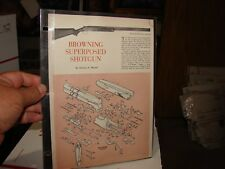 BROWNING SUPERPOSED SHOTGUN EXPLODED VIEWS 1961 Magazine Article