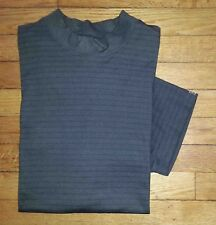 3519s L Charcoal Stripe CUTTER & BUCK Base Layer S/S Athletic Shirt!