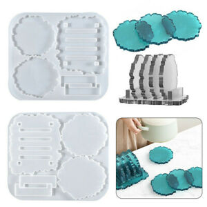 Coaster Stand Epoxy Resin Mold Set Cup Mat Holder Silicone Mould DIY Crafts Tool