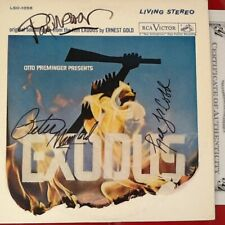 Paul Newman * Peter Lawford * Lee J Cobb SIGNED Exodus Album Cover 3 Stars 1960
