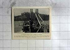 1905 A Fishing Wheel On A Canadian River Salmon Incubating Station