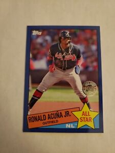 2020 Topps Series 1 #85-12 Ronald Acuna Jr. 1985 35th Anniversary Blue Parallel