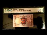 Pakistan 1 Rupee 1981 Banknote World Paper Money UNC - PMG Certified