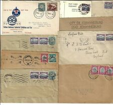 SOUTH AFRICA 1950s COLLECTION OF 10 COMMERCIAL COVER INCLUDE ONE POST CARD ALL