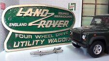 latón BRONZE VERDE TINA Heritage trasero placa Land Rover Defender 110 90