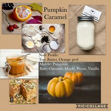 Pumpkin Caramel Scented Soy Candle (Handmade) MADE TO ORDER