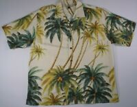 Tommy Bahama Shirt  Mens Silk Floral Hawaiian Camp Aloha SIZE LARGE