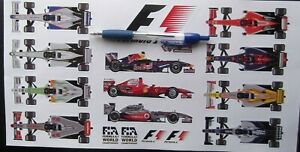 FORMULA ONE  F1  QUALITY VINYL PRINTED STICKERS / DECALS