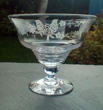 Stuart Crystal~Stratford~681649 Footed Sundae/Dessert Glass Etched c1921 STU46