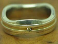 925 STERLING SILBER RING MIT BRILLANT BESATZ / DIAMANT / ECHTSILBER 5,0g / RG 51