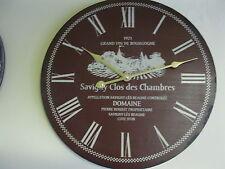 Große Reloj de Pared 40Cm Nostalgia Estilo Antiguo Cocina Vino Rojo