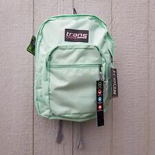 """Trans by Jansport 17"""" Adjustable  Backpack Brook Green Laptop Storage SuperMax"""