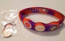 Wrist Skins Golf Ball Marker Bracelet,Clemson Tigers, Magnetic, Size XL, L, M