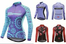 Womens Cycling Jersey Bicycle Tops Clothing Ciclismo Long Sleeves Riding Shirts
