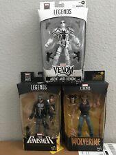 Marvel Legends Lot Agent Anti-Venom, Wolverine, Punisher! Gamestop Exclusives!