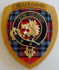 NOS Scottish Clan MacTAVISH Oak Tartan Plaque Crest NON OBLITUS
