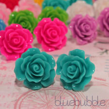 Turquoise Silver Plated Stud Costume Earrings